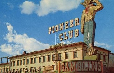 1950s postcard showing the Pioneer Club in Las Vegas