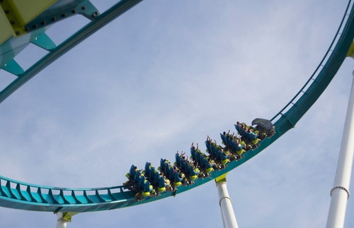 Fury 325 roller coaster at Carowinds near Charlotte, North Carolina