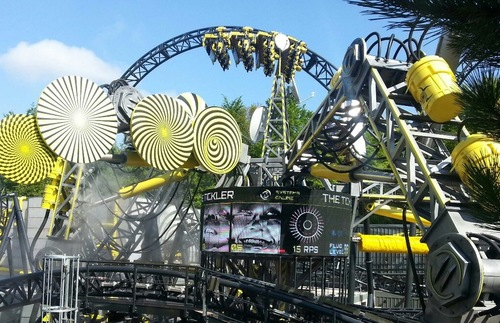 The Smiler roller coaster at Alton Towers in Staffordshire, United Kingdom