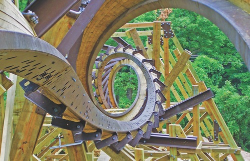 Outlaw Run roller coaster at Silver Dollar City in Branson, Missouri