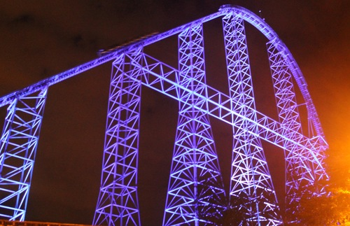 Millennium Force roller coaster at Cedar Point in Sandusky, Ohio