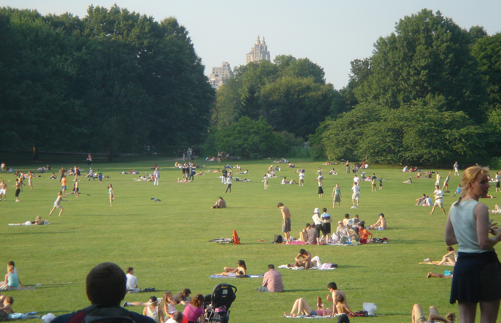 The Great Lawn is a great place to lounge and relax on a sunny day.