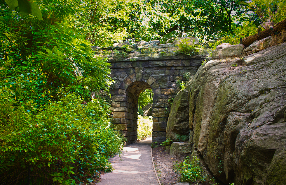"The Ramble Arch is an iconic feature of this ""wild garden""."