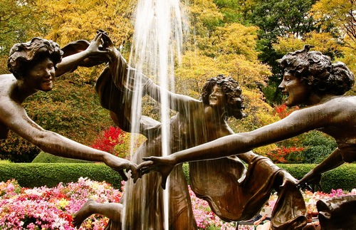Untermyer Fountain in Central Park's Conservatory Garden in New York City