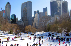 Ice skating in New York City's Central Park