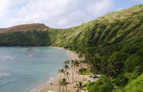 Hanauma Bay Nature Preserve on Oahu, Hawaii