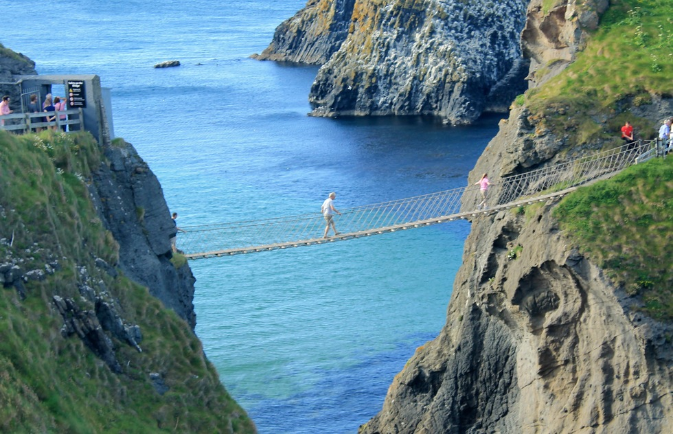 Carrick-a-Rede Rope Bridge on the Antrim Coast in Northern Ireland