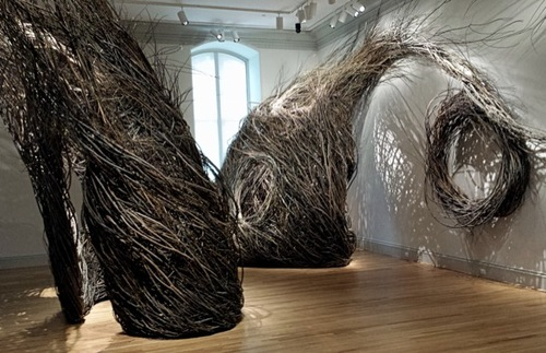 "Patrick Dougherty's ""Shindig"", on display at the Renwick Gallery in Washington, D.C."