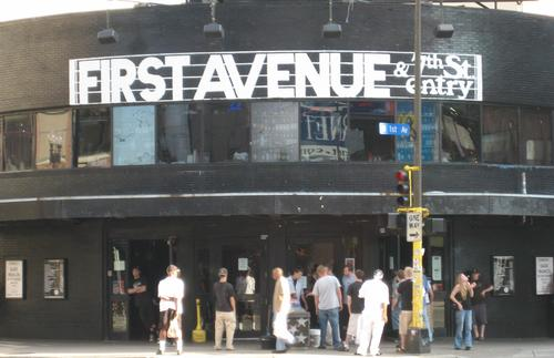 Music lovers wait outside First Avenue before a show.
