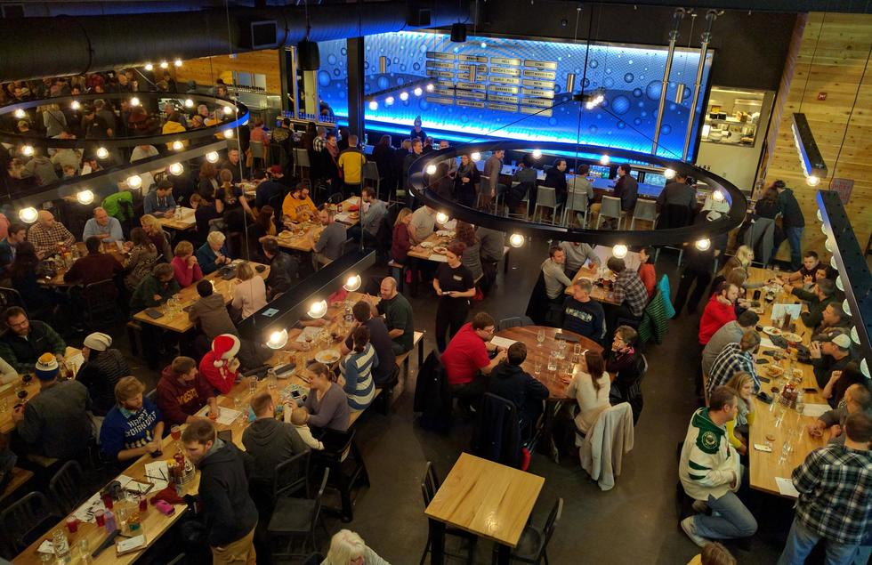 The Surly Brewery is a popular place for a lively night out
