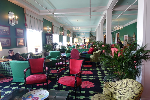 The lobby of the Grand Hotel