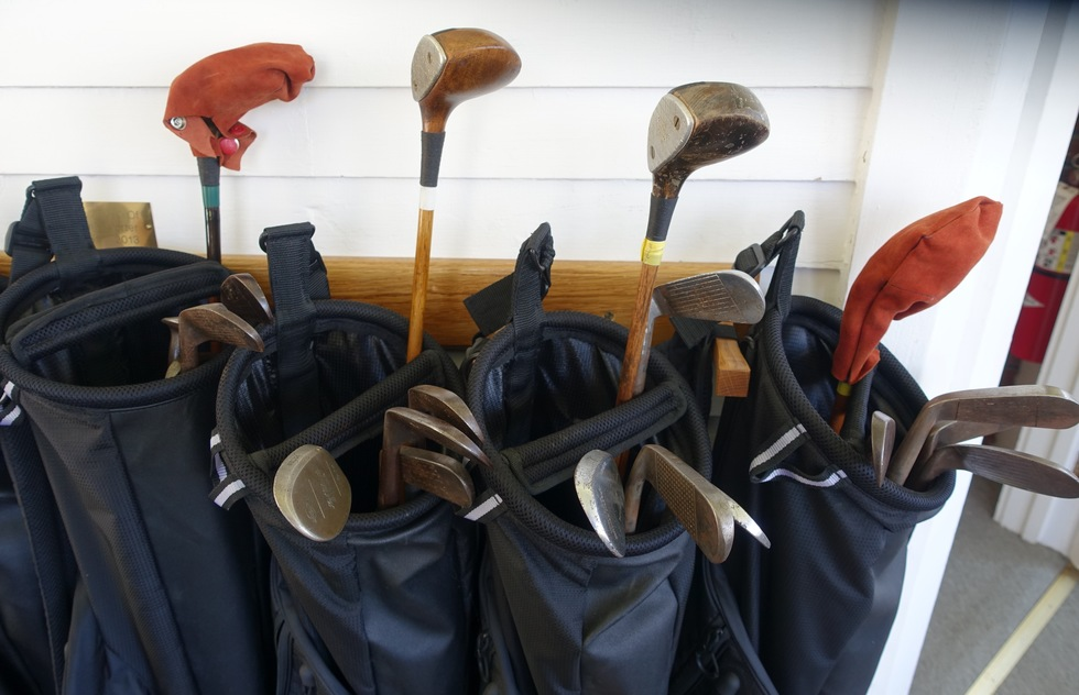 Hickory stick golf clubs, Mackinac Island, Michigan