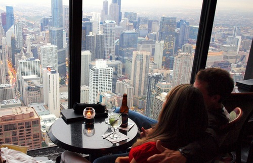 The Signature Room and Lounge at the John Hancock Center in Chicago