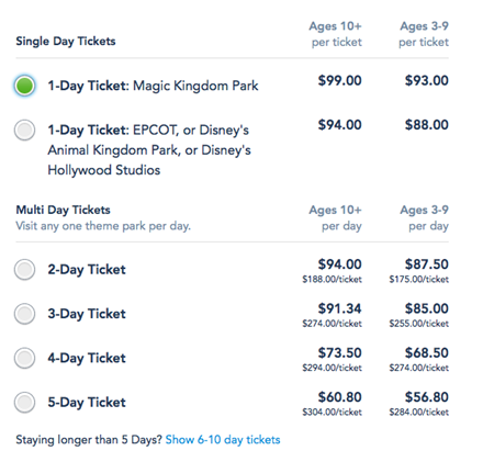 Walt Disney World Prices Hit a New Record: $99 Per Day! | Frommer's