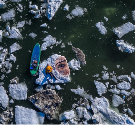 Artist Paints Portrait on Rapidly Melting Arctic Ice Floe | Frommer's