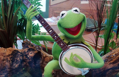 Kermit the Frog at the Jim Henson museum in Leland, Mississippi
