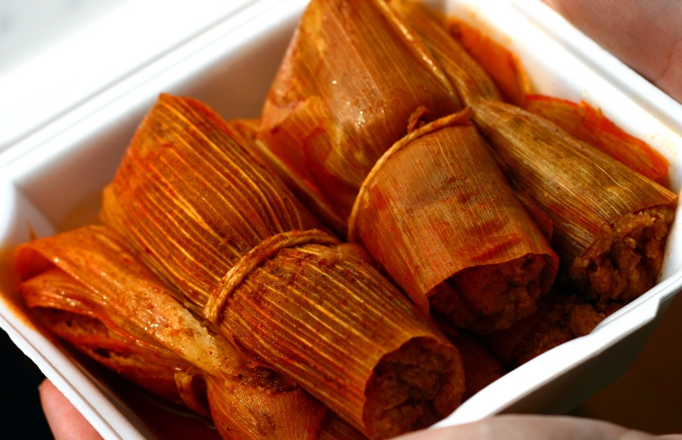Mississippi-style tamales at Delta Fast Food in Cleveland, Mississippi