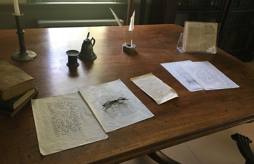 Herman Melville's desk at his former home of Arrowhead in Lenox, Massachusetts