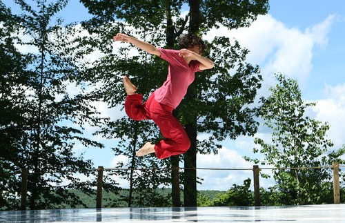 A dancer performs at Jacob's Pillow dance festival
