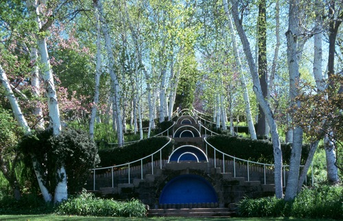The gardens at Naumkeag in Stockbridge, Massachusetts