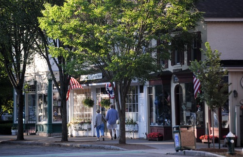 The main street of Stockbridge, Massachusetts