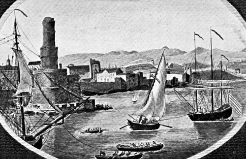 Illustration of Port Royal, Jamaica in its 17th-century heyday
