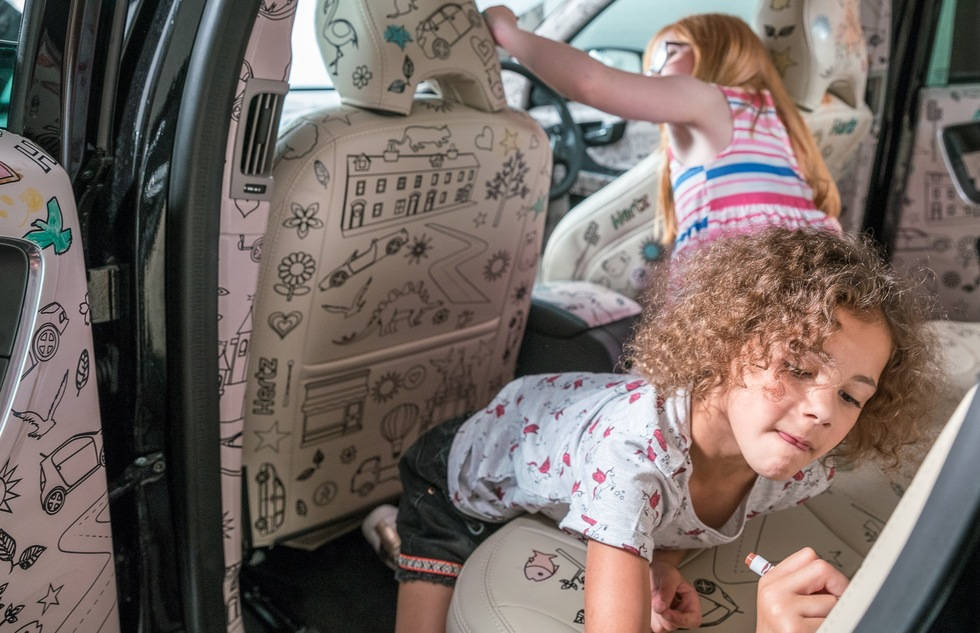 Rental Car with Upholstery for Kids to Color On  | Frommer's
