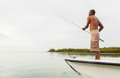 Fisherman in the Abacos of the Bahamas