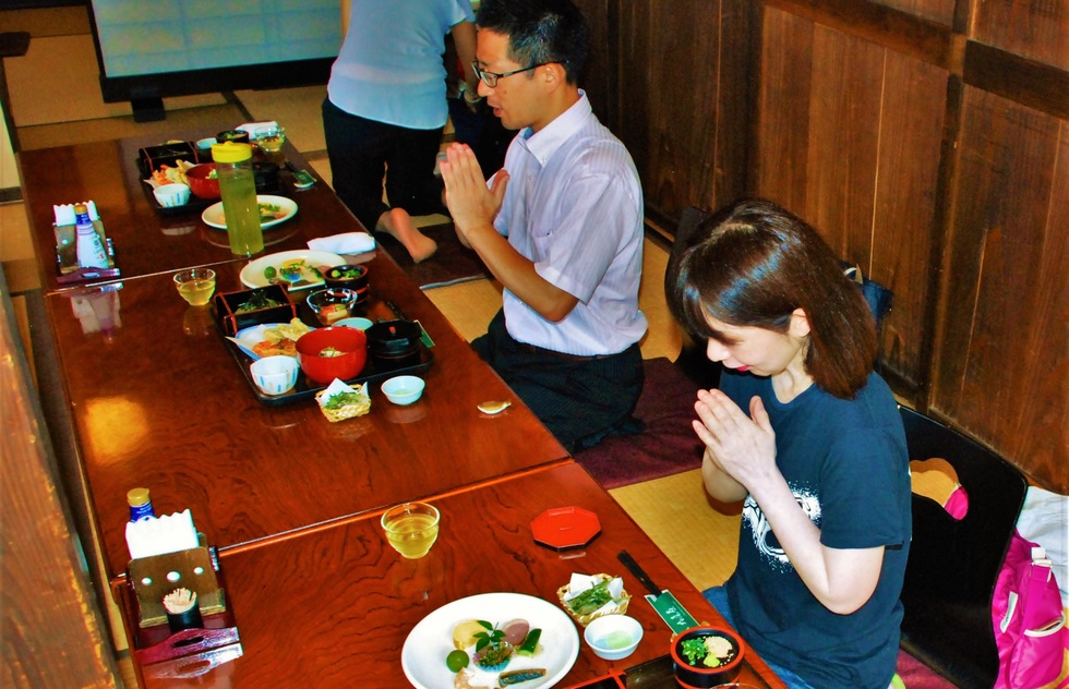 DON'T - Dig in without saying grace when you eat in Japan