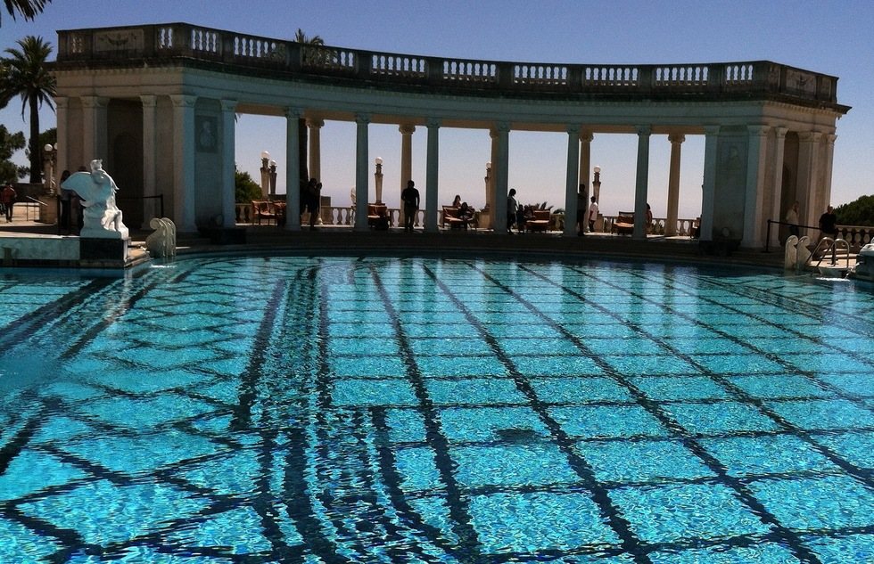 Neptune Pool at Hearst Castle in San Simeon, California