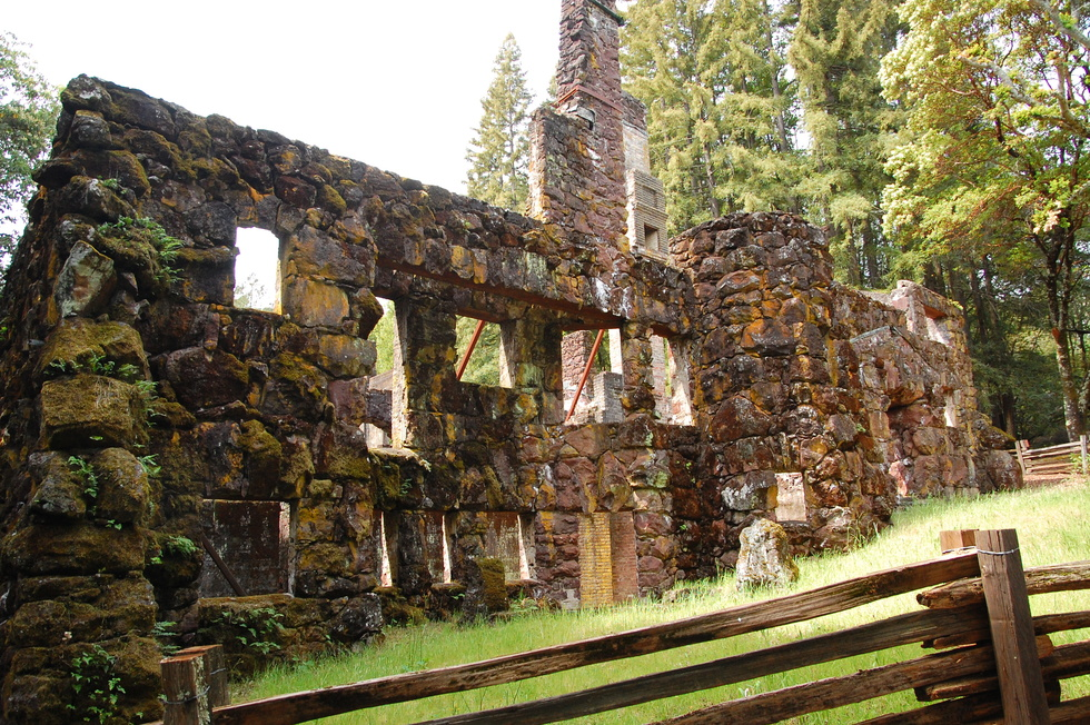 Ruins of Wolf House at Jack London State Historic Park in Glen Ellen, California