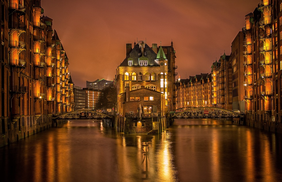 Waterfront in Hamburg, Germany