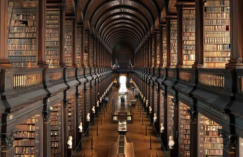 Trinity College's Long Room in Dublin