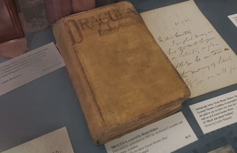 "First edition of Bram Stoker's ""Dracula"" at the Dublin Writers Museum"