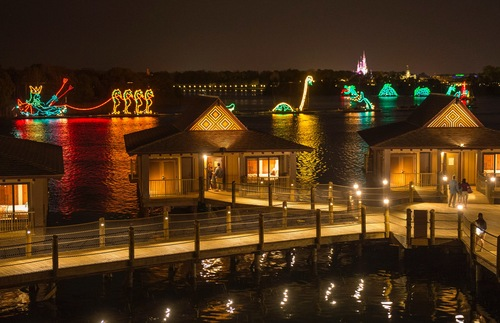 Walt Disney World lagoon resorts: Electrical Water Pageant