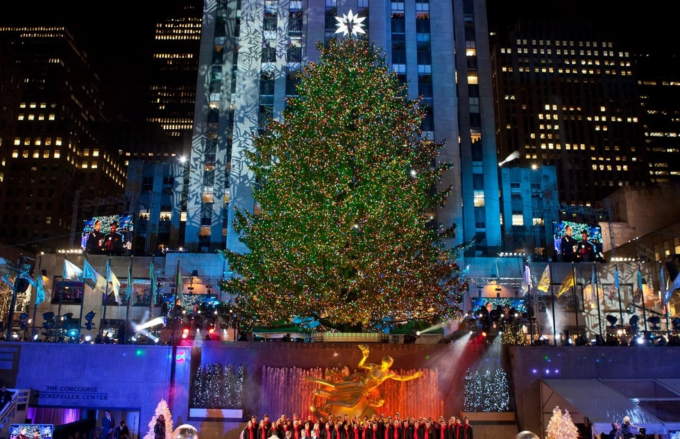 2012 Christmas tree lighting ceremony at Rockefeller Center in New York City