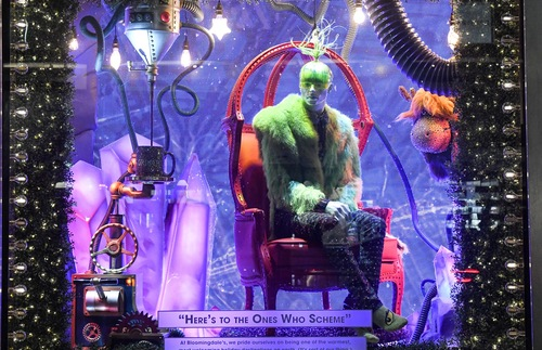 2018 holiday window display at Bloomingdale's in New York City