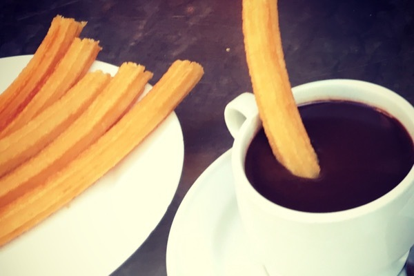 Chocolate served with churros is for dipping only