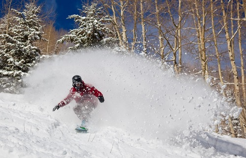 A skier on the slopes in Aspen, Colorado