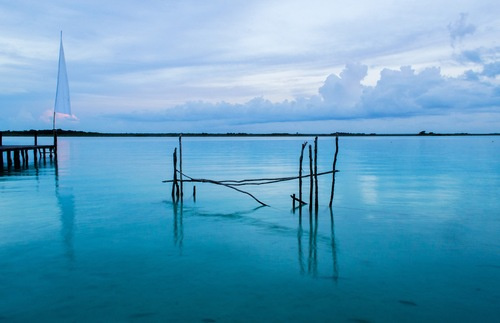Lake of Seven Colours in Bacalar, Quintana Roo