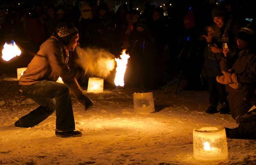 Fire performers at the Luminary Loppet festival in Minneapolis