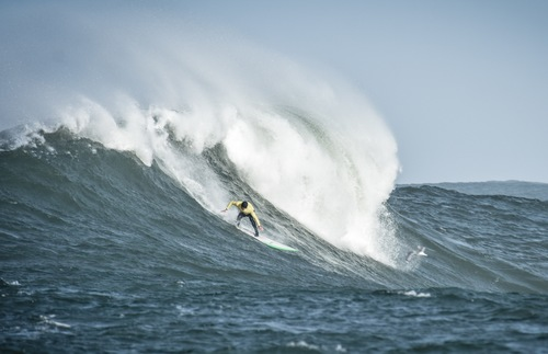 Titans of Mavericks surfing competition in Half Moon Bay, California