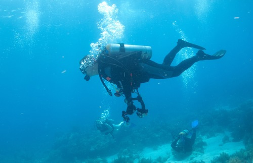 Scuba diving in Key Largo, Florida