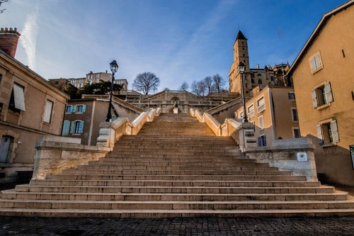The Monumental Staircase and statue of D'Artagnan, Auch, France