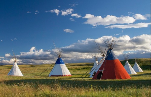 Lodgepole Gallery and Tipi Village, Browning, Montana