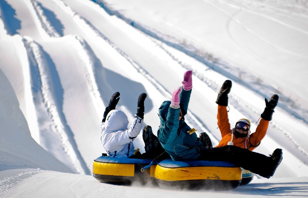 Snow tubing in Quebec