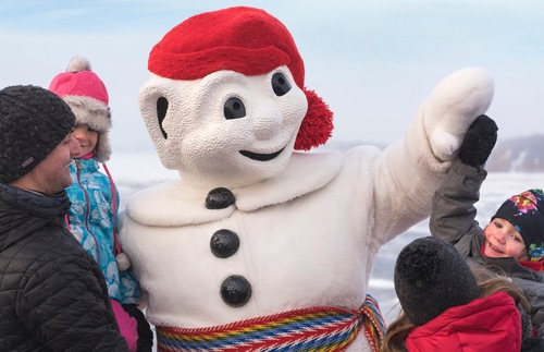 Bonhomme at Quebec City's annual winter carnival