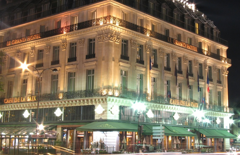 Grand Hotel and Cafe de la Paix in Paris