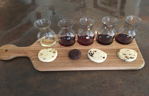 Wine tasting and cookie pairing from Loring Wine Company in Buellton, CA
