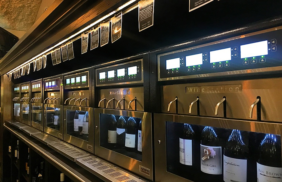 The Wine Wall at Bottlest in Buellton, CA